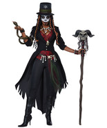 7pc Womens Voodoo Magic Witch Dr. Halloween Costume - €48,35 EUR