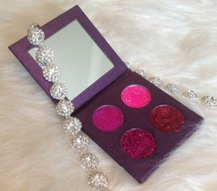 4 26 mm Beautiful Hand Pressed Pink Tones Glitter Eyeshadow - $25.00