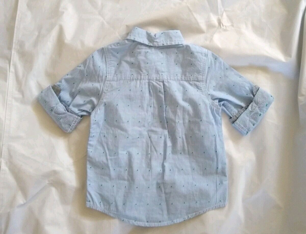 3T Cat /& Jack Toddler Long Sleeve Rabbit in Hat Button Down Shirt NWT