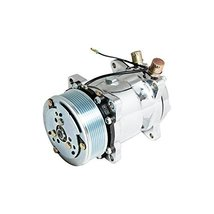 Top Street Performance HC5004C A/C Compressor with Silver Clutch (Chromed Serpen