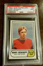 1969 A&Bc Topps Footballers Harry Redknapp West Ham United Mint Psa 9 # 60 - $149.99