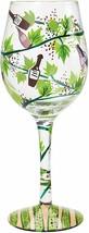 "Lolita Love My Wine ""Wine Tasting"" Artisan Hand Painted 15 oz Wine Glass - $23.99"