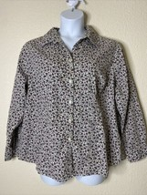 White Stag Womens Plus Size 2X Floral Button Up Shirt Long Sleeve - $11.88