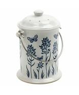Norpro 83 Ceramic Floral Blue/White Compost Keeper, 3-Quart - $45.95