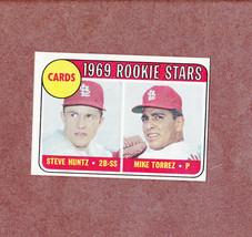 1969 Topps # 136 Mike Torrez Steve Huntz Rookie Card Cardinals Nice Card - $2.99
