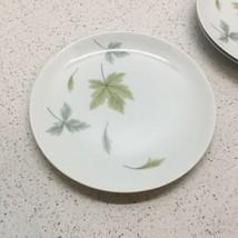 "Mikasa Elite Windfall Pattern, Set Of 3 Salad Plates 7 1/2"" Wide, Green Leaves - $2.97"