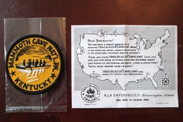 MAMMOTH CAVE KENTUCKY 3 IN EMBROIDERED VINTAGE PATCH TRAILBLAZER NEW OLD... - $7.85
