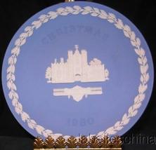Wedgwood Jasperware Lavender Christmas Plate 1980 St. James Palace - $59.35
