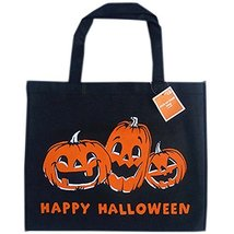 Set of 4 Halloween Kids Candy Bag Trick or Treating Candy Bag(Big Black Pumpkin)