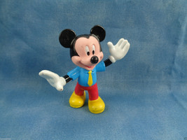 """Disney Mickey Mouse with Yellow Tie PVC Figure 2 1/2"""" High - $1.34"""