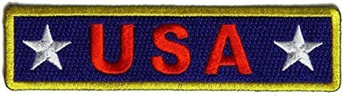 USA Red White and Blue Patch - 4x1 inch