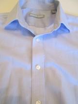 Michael Kors Men's Button Down Casual Shirt Blue & White Stripe Size 15 ... - €15,98 EUR