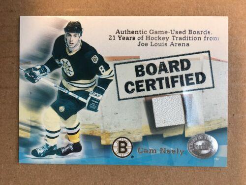 2001 Fleer Cam Neely Board Certified Boston Bruins Hockey Card NM/M NB1