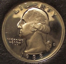 1988-S Proof DCAM Washington Quarter PF65 #0148 - $1.99