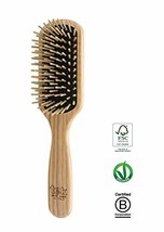 Tek small paddle hairbrush in ash wood with regular pins - Handmade in I... - $40.53