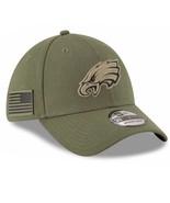 Philadelphia Eagles New Era 39Thirty Salute To Service S/M Flexfit Cap Hat - $28.90