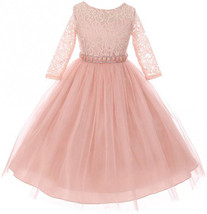 Blush Floral Lace Easter Dress Holiday School Wedding Party - $47.52+