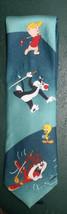 Sylvester Tweety Taz Porky Pig  playing Golf Warner Brothers Tie - $19.99