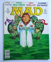 MAD Magazine Teenage Ninja Mutant Turtles Cover Oct 1991 No 306 Vanilla Ice - $31.14