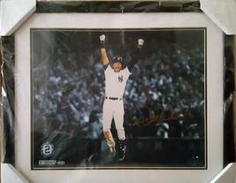 Derek Jeter Signed Celebration after Walk Off Horizontal 16x20 Photo - $650.00