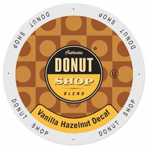 Authentic Donut Shop DECAF Vanilla Hazelnut Coffee 48 or 96 K cup Pick A... - $39.99+