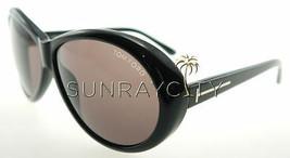 Tom Ford Geraldine Black / Brown Sunglasses TF202 01J - $155.82