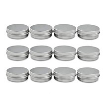 Houseables Aluminum Tin Jars, 1 Oz, 30 ML Gram Jar, 12 pcs, Cosmetic Sam... - $13.41