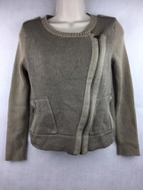Women's Gap Beige Knitted Short Zip-up Jacket Size Small - $17.81
