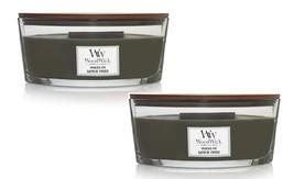 Woodwick Frasier Fir Ellipse Candle 16 oz - Sage Citrus Cedar Cloves-  Lot of 2 - $63.99