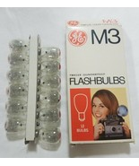 Vintage General Electric M3 12 flashbulbs photography lighting - $11.88