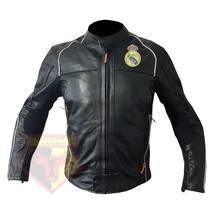 REAL MADRID FOOTBALL CLUB COWHIDE LEATHER MOTORBIKE MOTORCYCLE ARMOUR JA... - $209.99