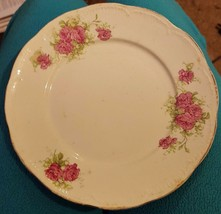 "Nice Vintage Warranted Victoria 7.25"" Dessert Plate - BEAUTIFUL PINK ROS... - $16.82"