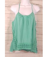 Loveriche Women's Mint  Crochet Spaghetti Strap Top Size-Large New - $18.47