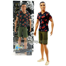 "Yr 2015 Barbie Fashionistas 12"" Doll STEVEN in Floral Tee & Green Denim ... - $39.99"