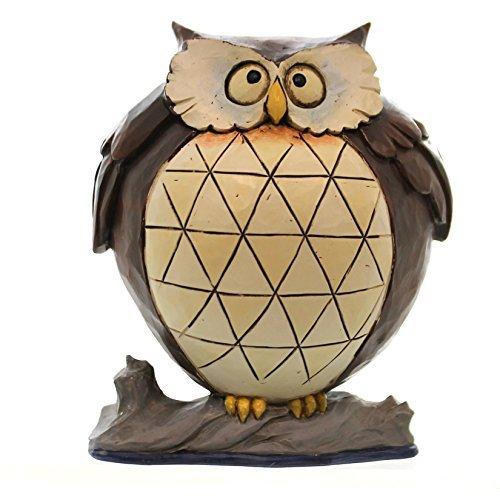"Jim Shore for Enesco Heartwood Creek 4.37"" Lazy Owl Figurine, 1 Pint"