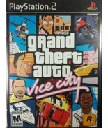 Grand Theft Auto Vice City PS2 Video Game street crime shooter GTA - $9.79