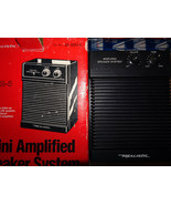 Realistic mps-5 Mini Amplified Working Speaker System vintage with origi... - $86.11