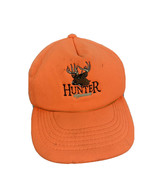VTG Deer Hunter Orange Foam Snapback Hat Trucker Cap Safety Blaze Buck 80s 90s - $14.84