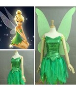 TinkerBell Costume with Wings Tinker Bell Costume TinkerBell Outfit Hall... - $116.00
