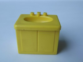 Vintage Fisher Price Little People Yellow Sink #729 - $4.99