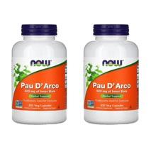 2 PACK Pau D' Arco Inner Bark 500 mg Natural Antibiotic 250 Veg Capsules - $34.95