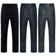 Arrivals Men Plain-Front Long Suit Pant Full Length Solid Pants - $38.76