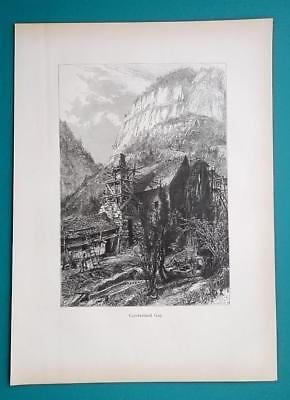 TENNESSEE Mountain Range Cumberland Gap - 1883 German Print