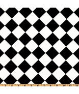 BLACK DIAMONDS Tablecloth Choose Size  Black and white harlequin pattern... - $69.00
