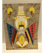 Vintage RARE 1953 CHICAGO CARDINALS v LA RAMS NFL Football Program Comis... - $48.95