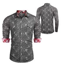 COOFANDY Men's Button Down Long Sleeve Slim Fit Casual Paisley Dress Shirt - 2XL