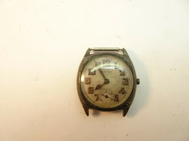 VINTAGE GRUEN STERLING SILVER DARK CUSHION CASE TRENCH 17J WATCH FOR RES... - $237.04