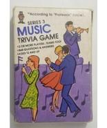 Hoyle Pocket Trivia Cards 1984 Television Series 3 Music No. 7032 - $9.49