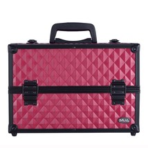 Professional Makeup Artist Pink Cosmetic Train Case Organizer Extendable... - $955,19 MXN