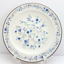 "Noritake Serene Garden Bread and Butter Plate 6-1/4"" White w Blue Floral - $9.90"